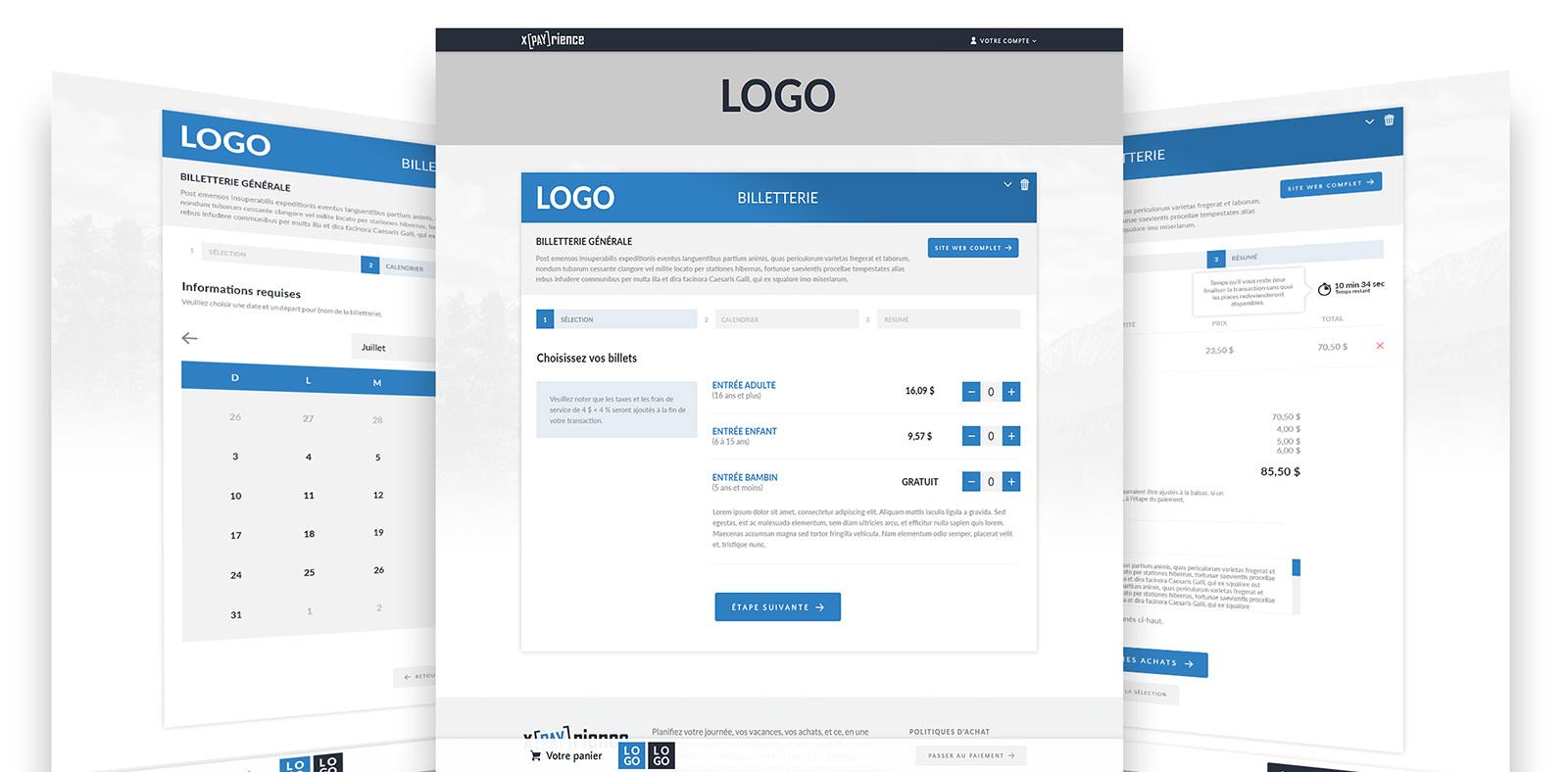 Module Billetterie du Réseau xPayrience - unique plateforme transactionnelle adaptée multi-commerces