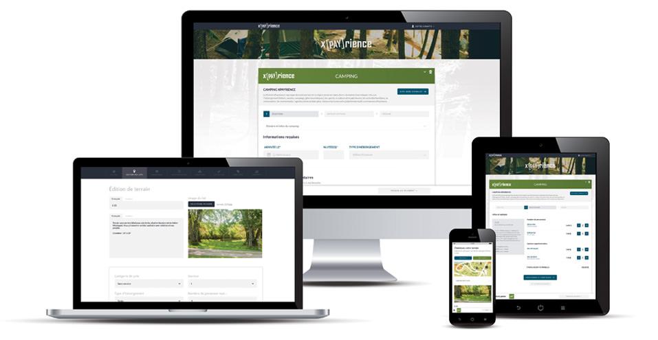 Module Camping du Réseau xPayrience - unique plateforme transactionnelle adaptée multi-commerces